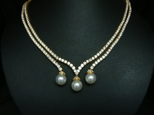 18K GOLD DIAPEARL NECKLACE 332/265P