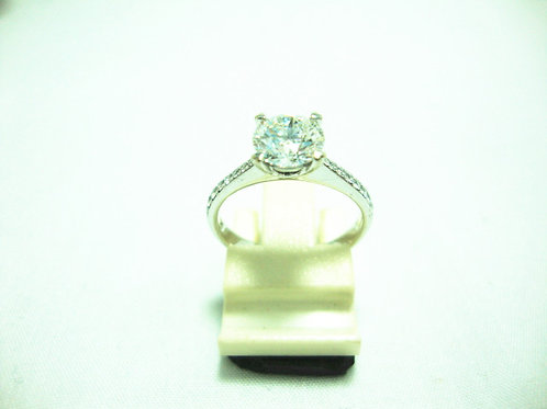18K WHITE GOLD DIA RING 1/112P 18/18P