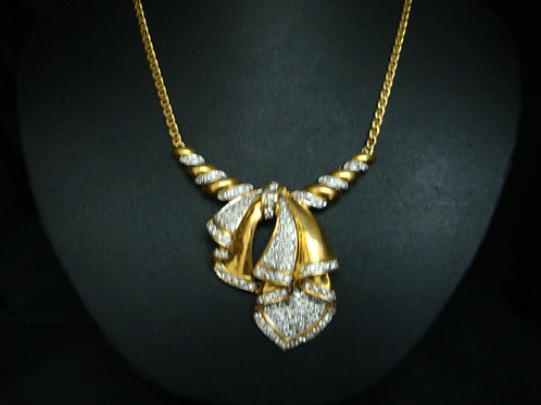 18K GOLD DIA NECKLACE 133/321P