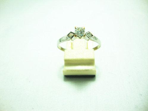 18K WHITE GOLD DIA RING 1/17P