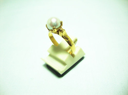 20K GOLD PEARL RING