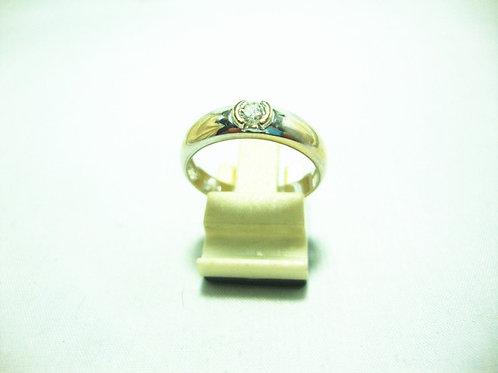 18K WHITE GOLD DIA RING 1/25P