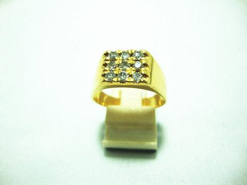 18K GOLD DIA RING 9/45P