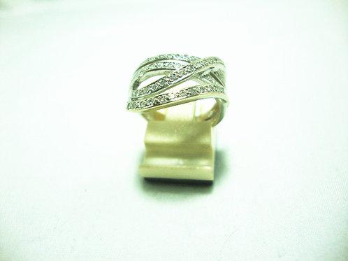 18K WHITE GOLD DIA RING 42/42P
