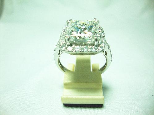 18K WHITE GOLD DIA RING 1/5CT 30/120P ( CERT )