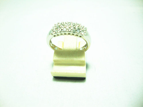 18K WHITE GOLD DIA RING 24/24P