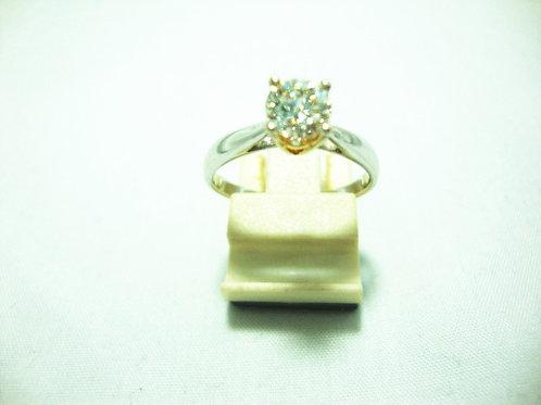 18K WHITE GOLD DIA RING 1/72P