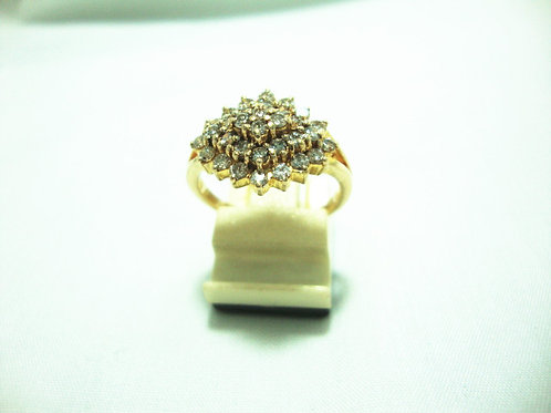 18K GOLD DIA RING 32/96P