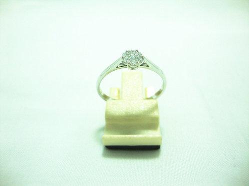 18K WHITE GOLD DIA RING 1/3P 6/12P