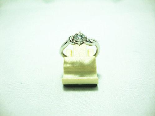 18K WHITE GOLD DIA RING 1/27P