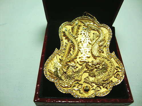 916 GOLD DIA PENDANT 94/188P