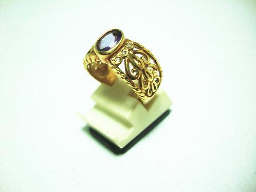 18K GOLD DIA STONE RING 6/6P