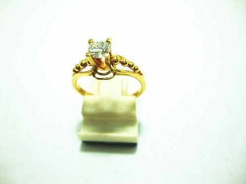 916 GOLD DIA RING 1/37P