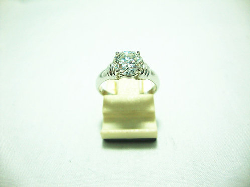 18K WHITE GOLD DIA RING 1/1.30CT ( CERT )