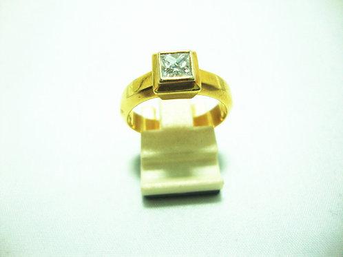 18K GOLD DIA RING 1/60P