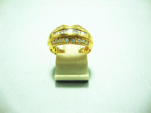 916 GOLD DIA RING 55P