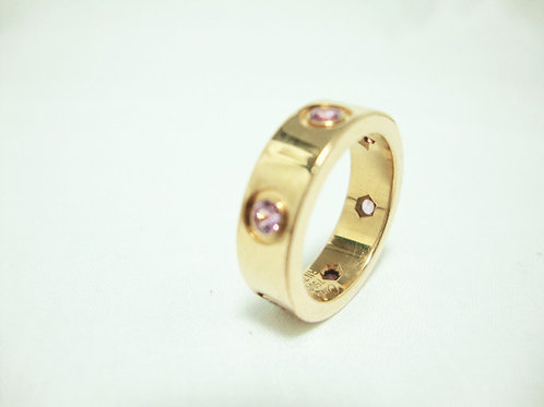 18K GOLD STONE RING ( CARTIER )