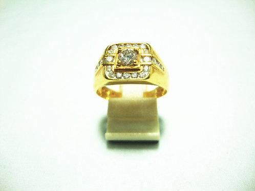 18K GOLD DIA RING 1/5P