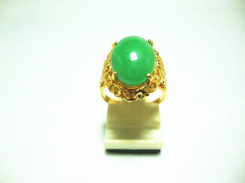 20K GOLD JADE RING
