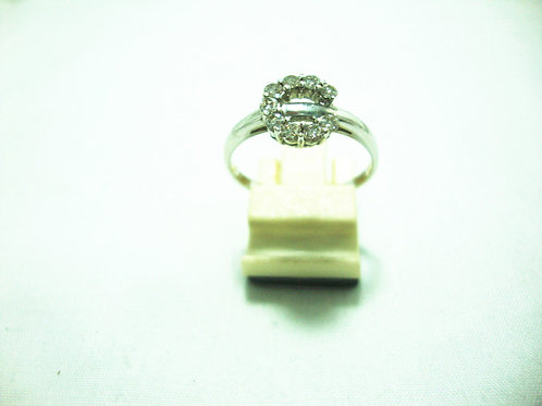 18K WHITE GOLD DIA RING 9/27P