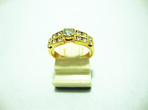 18K GOLD DIA RING 1/20P 60P