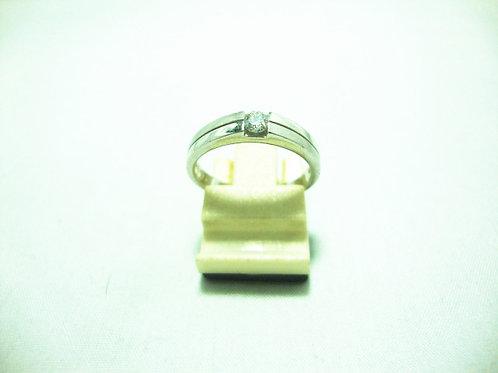 PLATINUM 900 WHITE GOLD DIA RING 1/15P