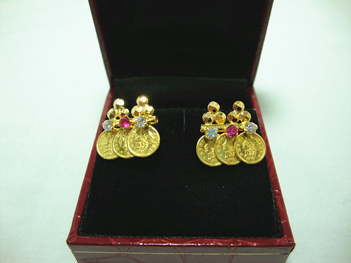 916 GOLD STONE EARSTUD