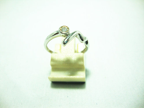 18K WHITE GOLD DIA RING 1/8P