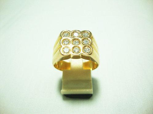 20K GOLD DIA RING 9/135P
