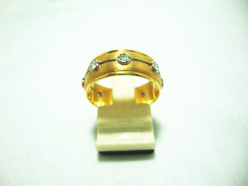 916 GOLD DIA RING 70P