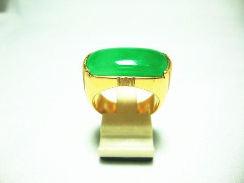 916 GOLD JADE RING