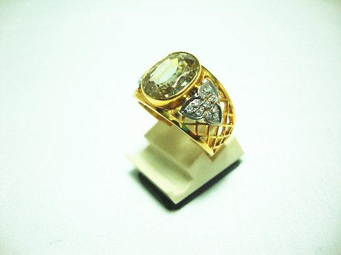 18K WHITE GOLD DIA STONE RING 20/20P