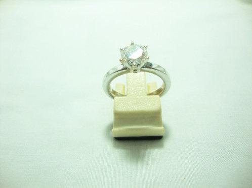 18K WHITE GOLD DIA RING 1/101P ( CERT)