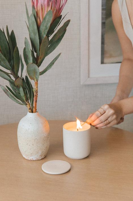 Desert Bloom Ceramic Candle