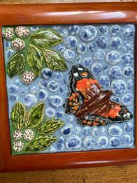 Kamehameha Butterfly Ceramic Mosaic