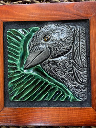 Wall-Art Tile: Alala, Hawaiian Crow, 2021