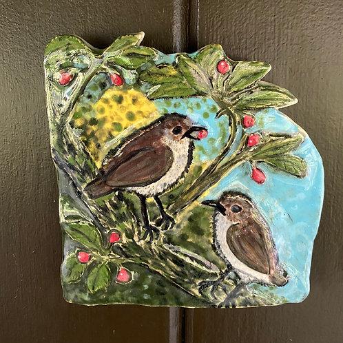 Na ʻŌmaʻo Ceramic Wall Plaque—sold on Etsy 2-12-21