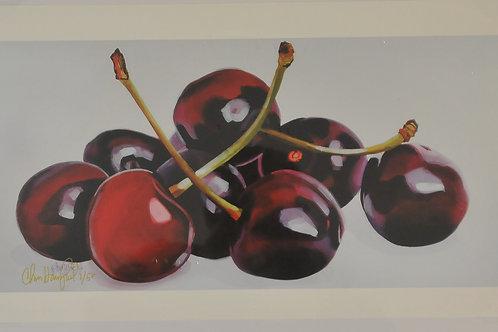 Giclee Canvas print of Cherries