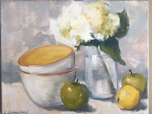 Yellow Still Life of Fruit