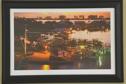 Framed Print of Bay Harbor at Night