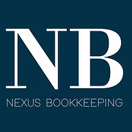 2021 Nexus Bookkeeping Logo white on blu