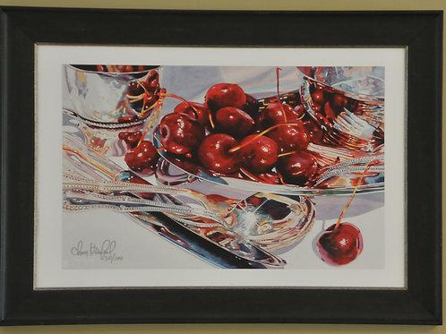 Framed print of Cherries