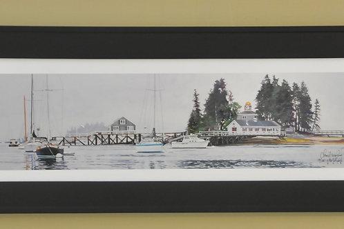 Framed Print of Harbor Scene