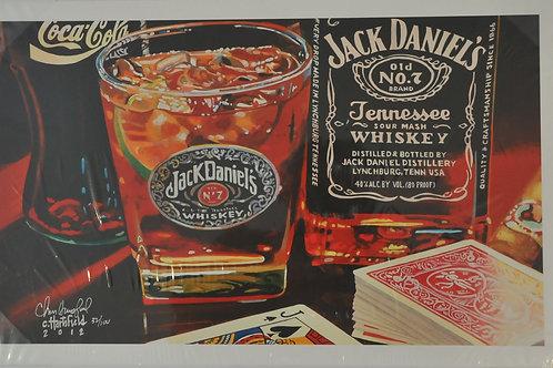 Giclee Canvas print of Jack Daniels