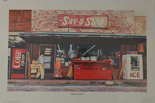 Giclee Canvas Print of Save a Stop
