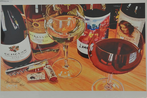 Giclee Canvas print of Wine