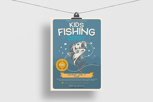 muscadine marketing kids fishing derby flyer sylacauga