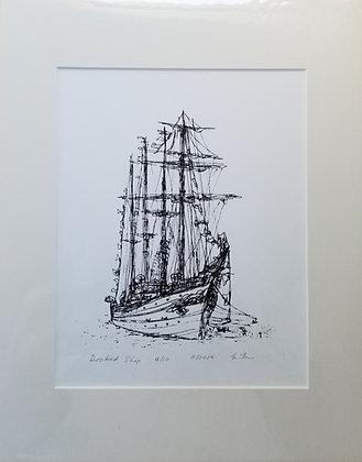 Medium Docked Ship Print