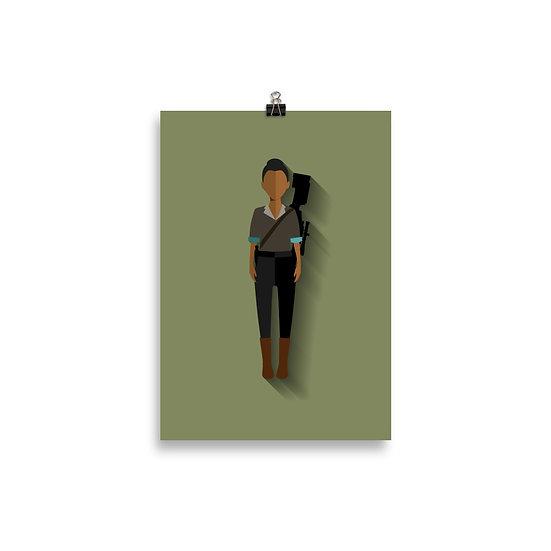 Poster Sasha Minimum - Coleção The Walking Dead