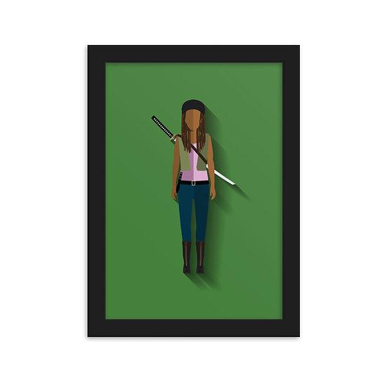 Fine Art Emoldurada Michonne Minimum